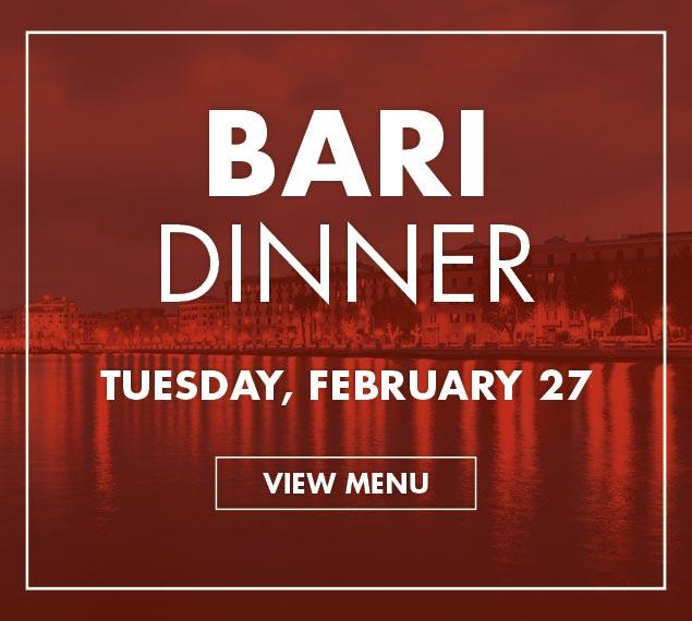 Book Now For Bari Italian Dinner