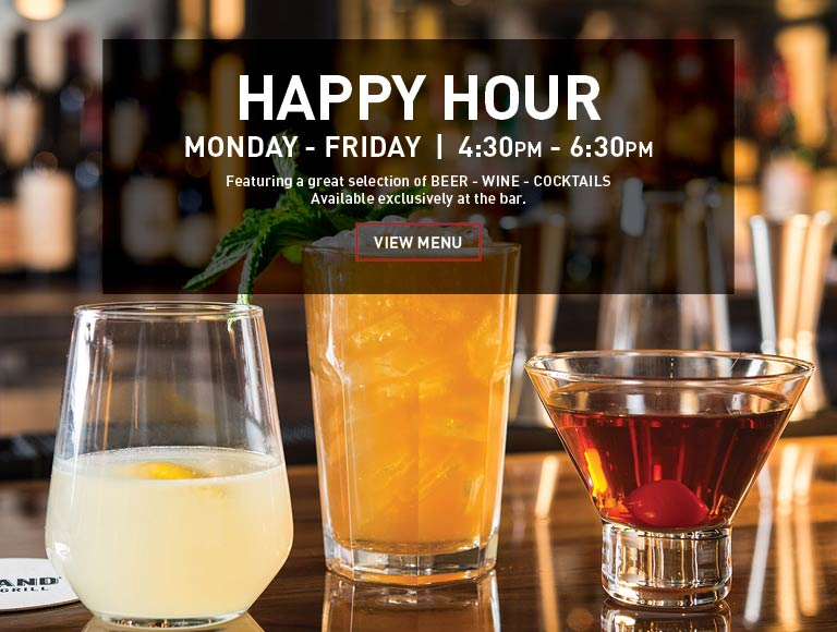 Happy Hour Monday to Friday, 4:30PM-6:30PM | Macy's Herald Square dining, NYC