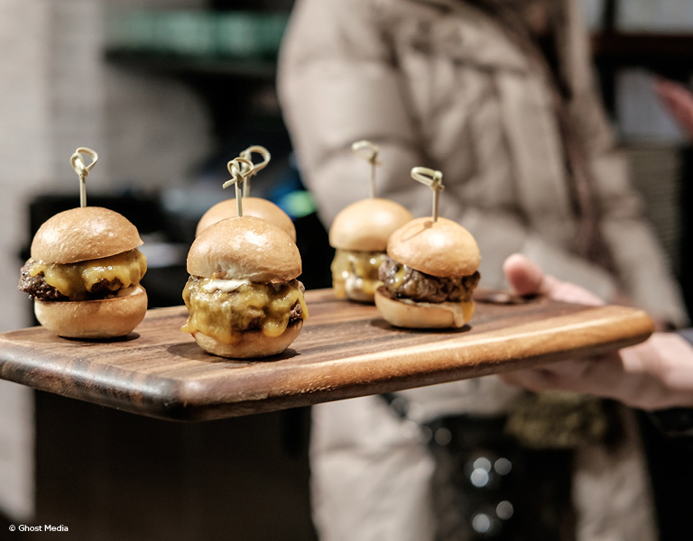 Burger Sliders, Event Catering