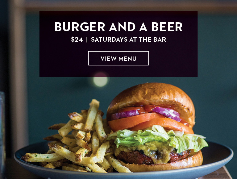 View Menu | Burger and a Beer at STATE Grill and Bar in Midtown, NYC | Saturdays at the Bar - $24