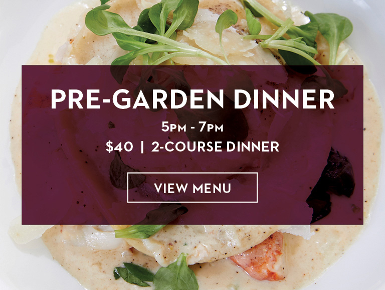 View Menu | Pre-Garden Dinner at STATE Grill and Bar in Midtown, NYC | 5PM-7PM | $40 for 2-Course Dinner