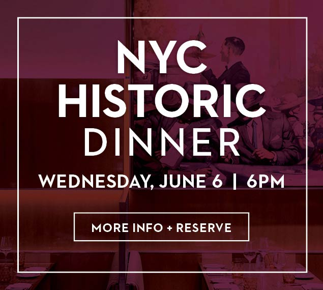 Reserve Now for NYC Historic Dinner
