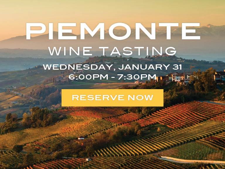 Piemonte Wine Tasting