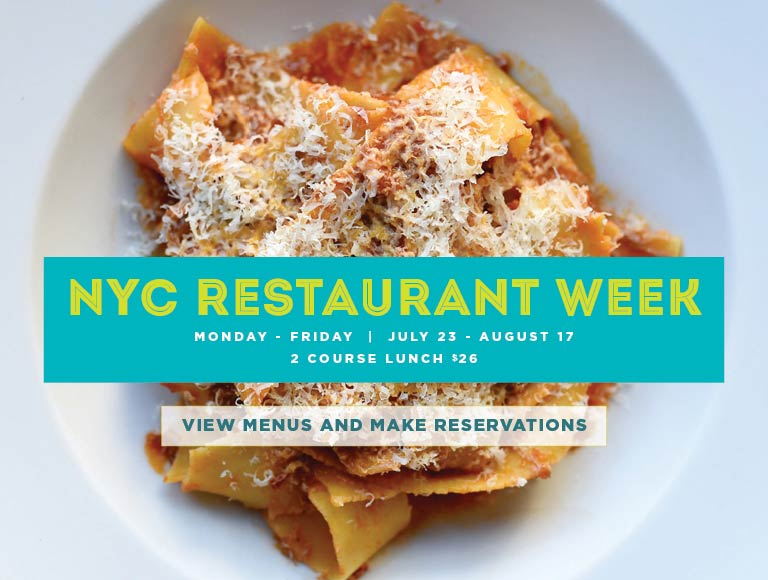 View Menu for New York City Restaurant Week at Stella34