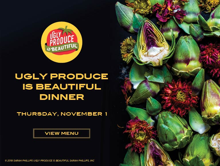 View Menu | Ugly Produce is Beautiful Dinner, Thursday, November 1