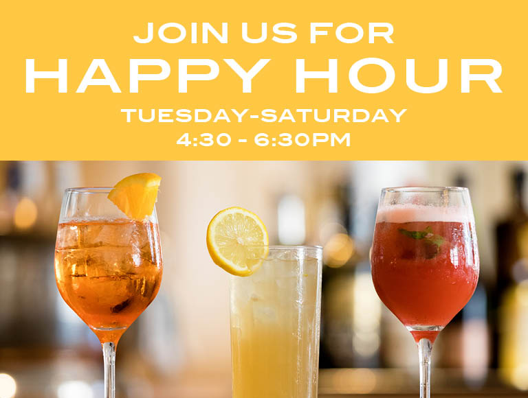 Join us at Stella 34 for Happy Hour Tuesday through Saturday 4:30 to 6:30 pm