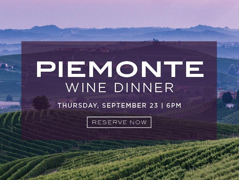 Piemonte Wine Dinner