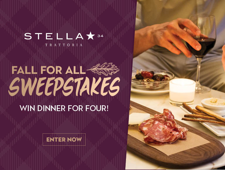 WIn a dinner for four at Stella 34