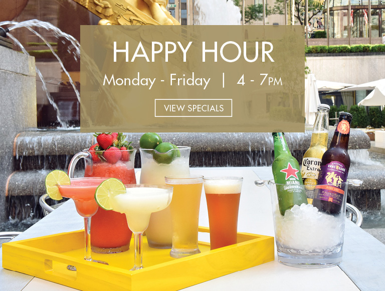 View Specials | Happy Hour at Summer Garden & Bar in New York City, Monday-Friday, 4-7PM