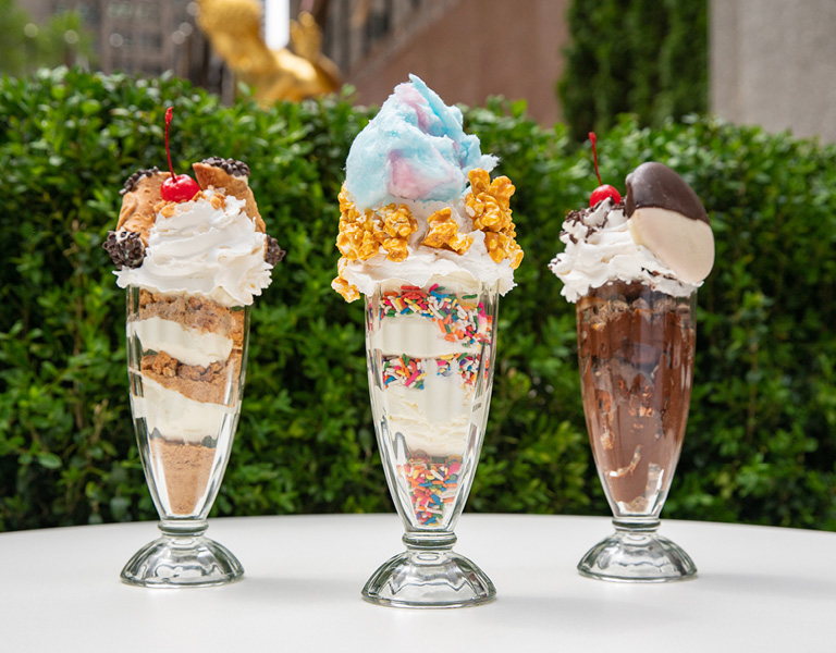 NYC-themed summer ice cream sundaes