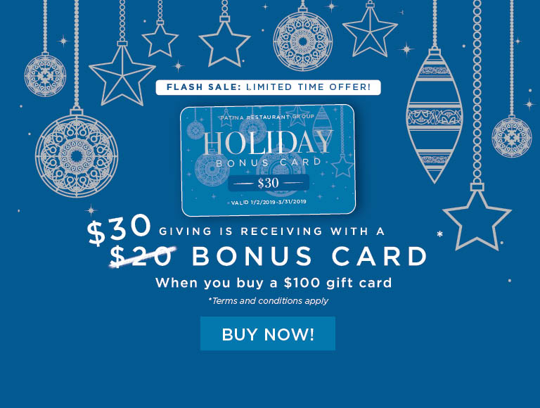 Flash Sale! Limited Time Offer! Receive a $30 bonus card when you buy a $100 gift card   Buy Your Holiday Cards Now