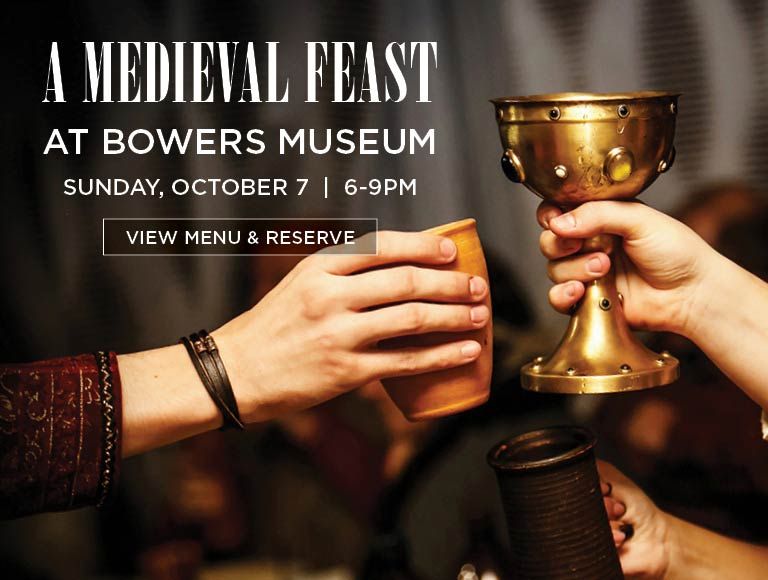 View Menu & Reserve for A Medieval Feast at Bower's Museum, October 7