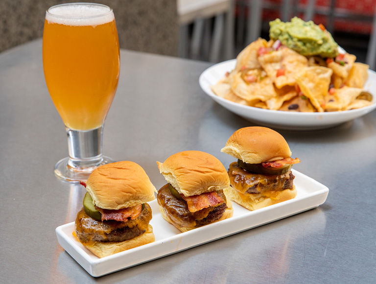 Sliders served at The Beer Bar in NYC
