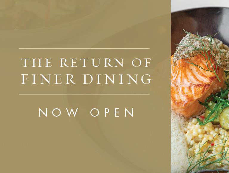 The Grand Tier Restaurant is Now Open