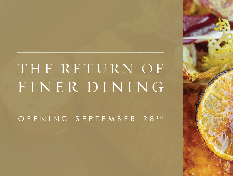 The Return of Finer Dining - The Grand Tier Restaurant is reopening September 28, 2021