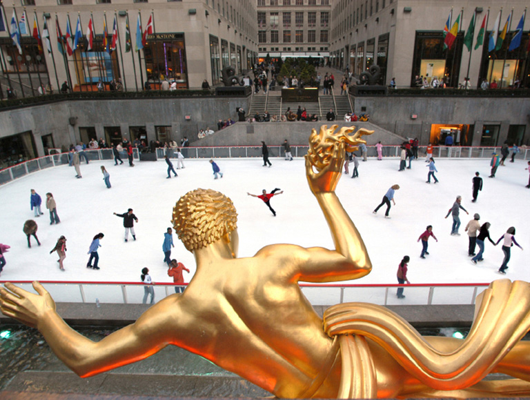 Prometheus sculpture at Rockefeller Center, NYC