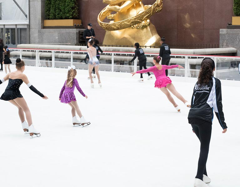 Figure Skaters, ice rink, NYC
