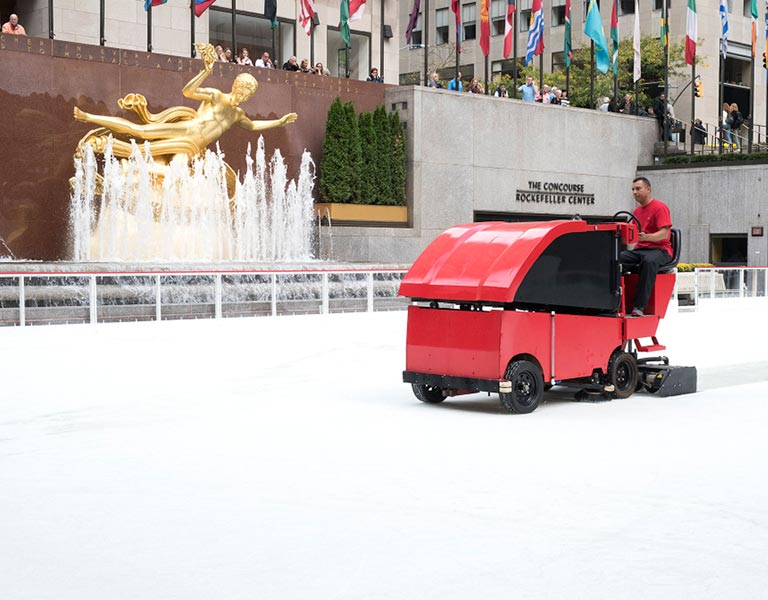Zamboni Ice Cleaning Machine, Ice Skating Rockefeller Center