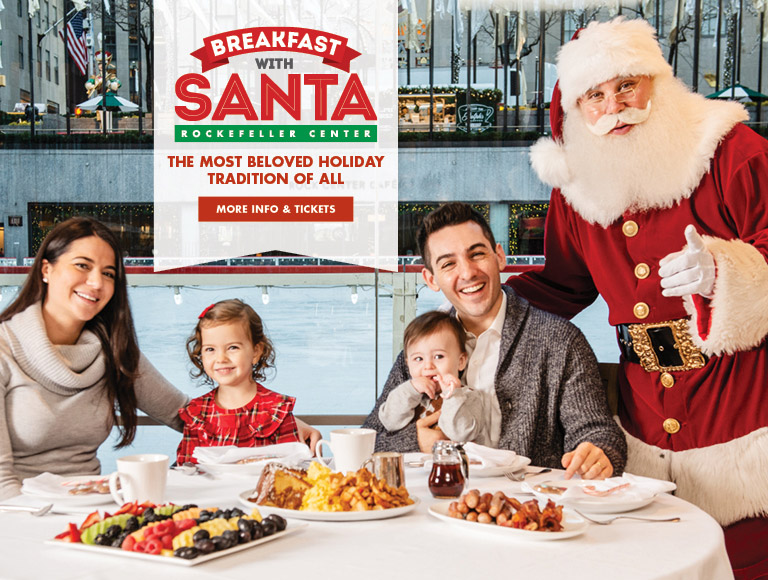 More Info + Tickets | Breakfast with Santa in Rockefeller Center | The Most Beloved Holiday Tradition of All