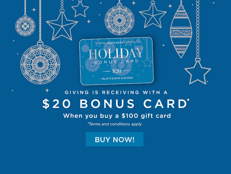 Receive a $20 bonus card when you buy a $100 gift card | Buy Your Holiday Cards Now