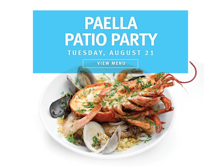 View Menu for Paella Patio Party, Thursday August 21