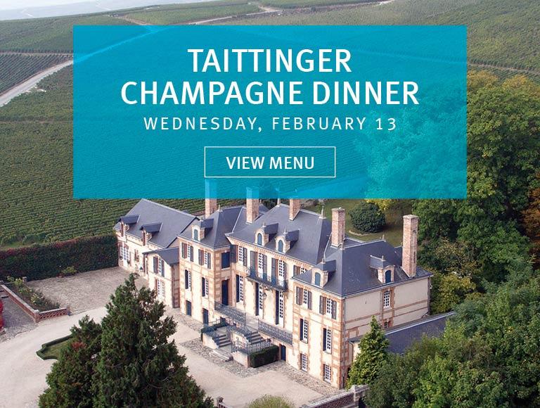 View Menu for Taittinger Champagne Dinner, Wednesday, February 13 | Rockefeller Center Seafood Dining