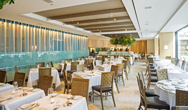 Dining area at The Sea Grill at Rockefeller Center in NYC