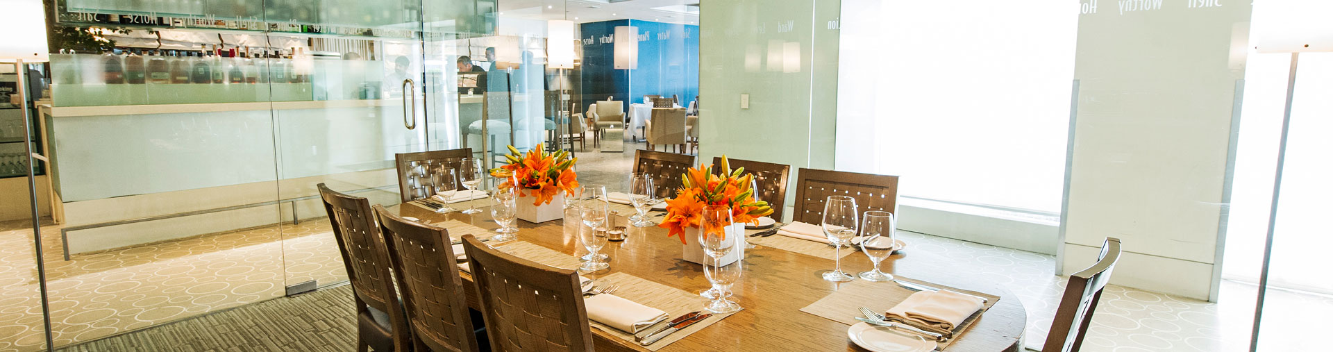 Private dining space at The Sea Grill at Rockefeller Center in NYC