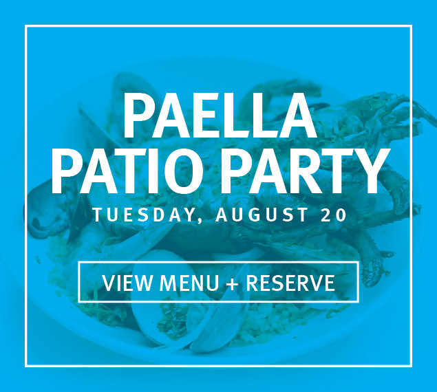View Menu + Reserve | Paella Patio Party on Tuesday, August 20 at The Sea Grill