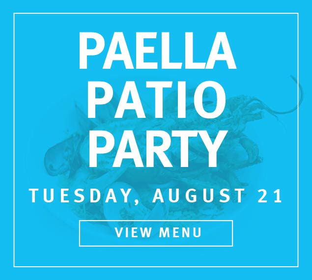 Reserve Now For Paella Patio Party