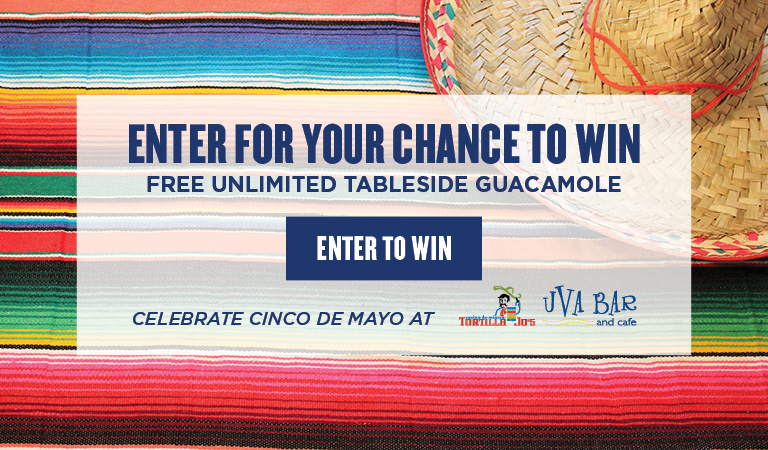 Enter for your chance to win free unlimited tableside guacamole | Cinco de Mayo Restaurants in Downtown Disney