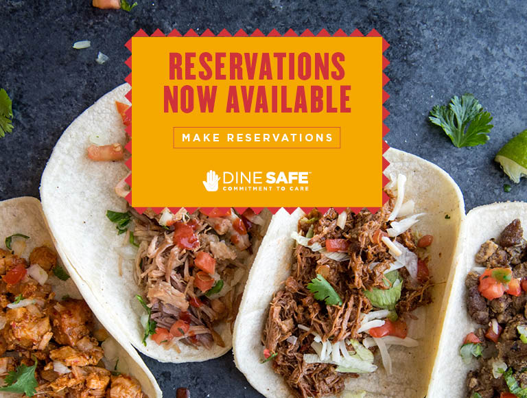 Reservations Now Available | Click to make reservations | Dine Safe Commitment To Care