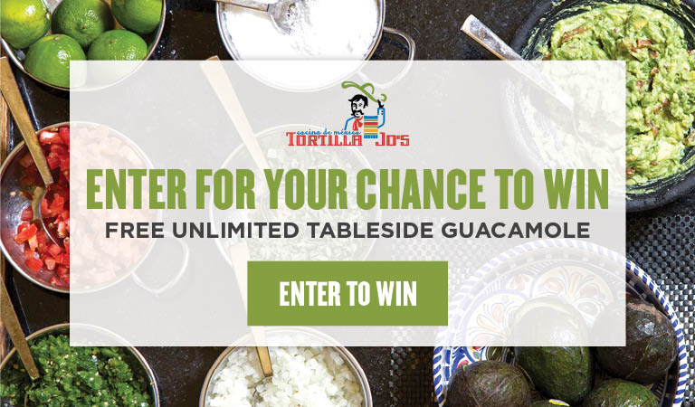Enter to win free unlimited tableside guacamole