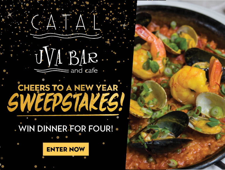Win dinner for four at Catal & Uva Bar