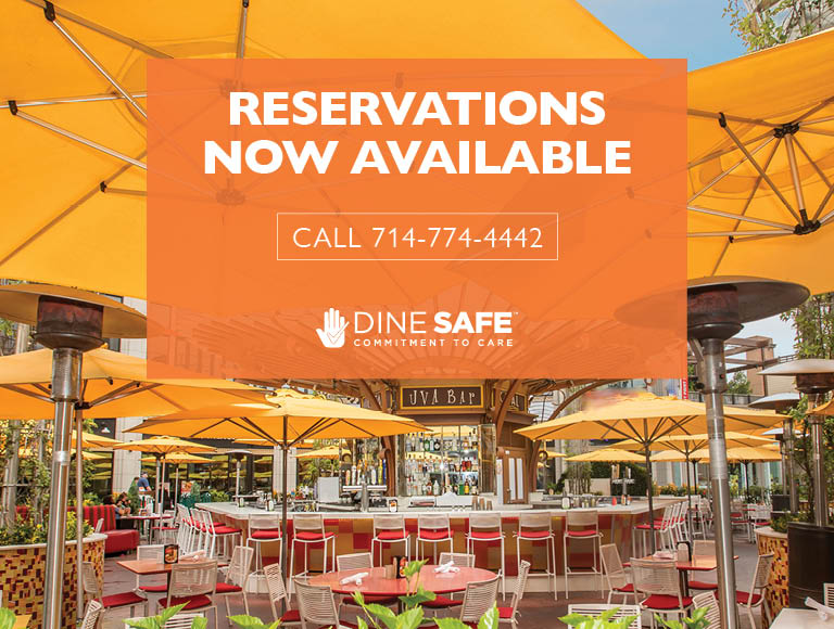 Reservations Now Available | Call 714-774-4442 | Dine Safe Commitment To Care