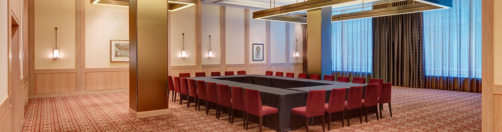 Corporate meeting space inside Vanderbilt Suites in midtown NYC