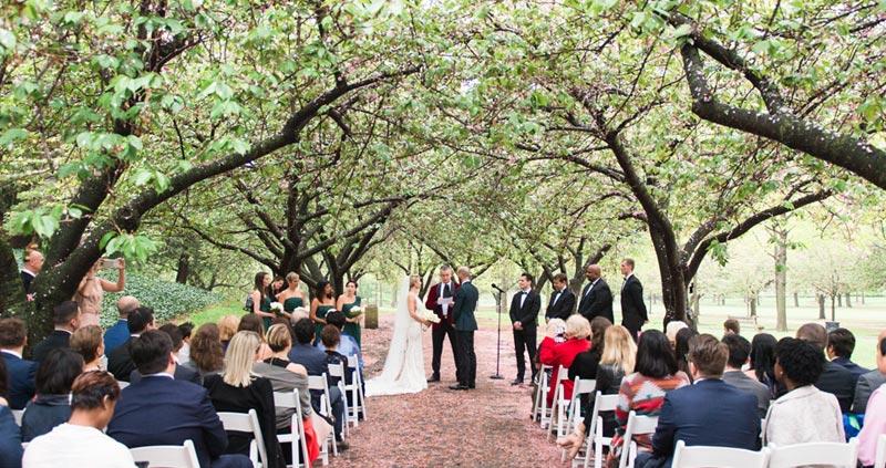 Garden Wedding | Patina Events At Brooklyn Botanic Garden Event Venue In Brooklyn Ny