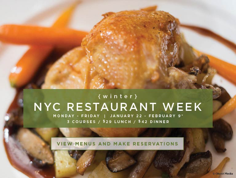 Winter 2018 NYC Restaurant Week