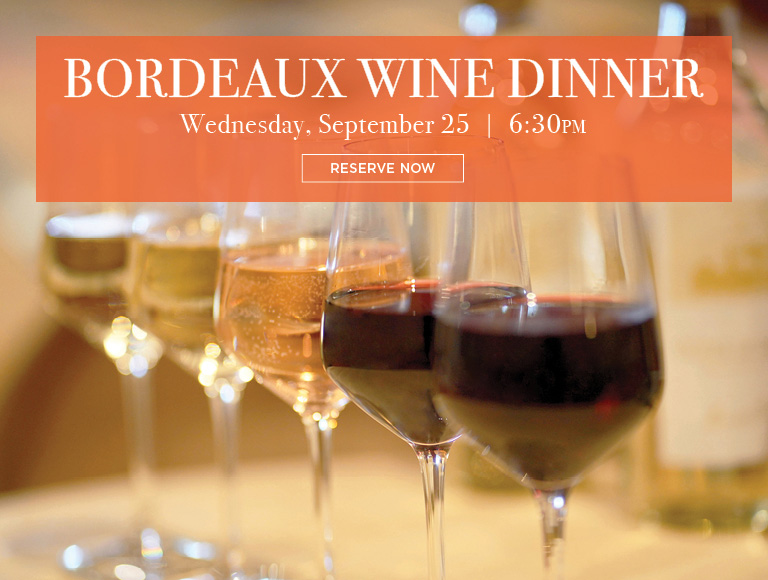 Reserve Now | Bordeaux Wine Dinner at Brasserie 8 1/2 in NYC | Wednesday, September 25 at 6:30PM