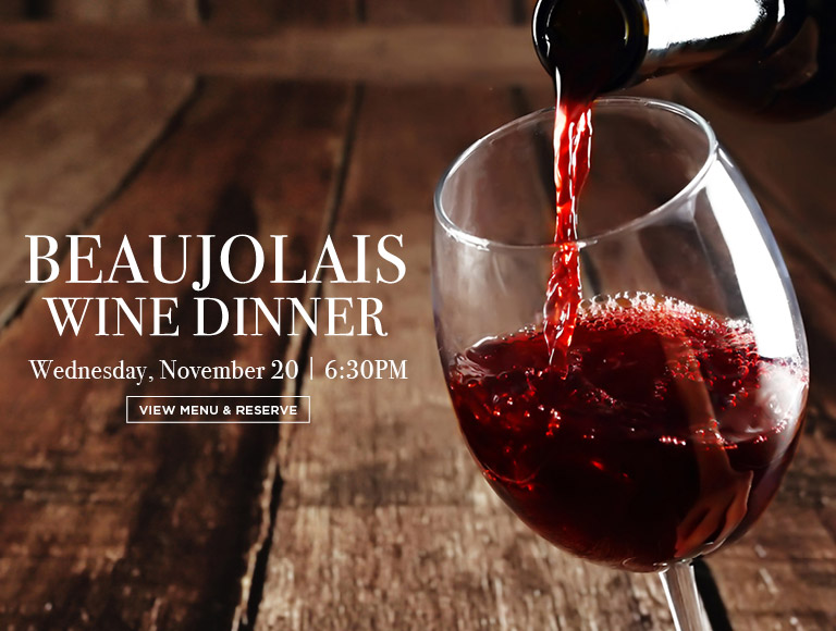 View Menu & Reserve | Beaujolais Wine Dinner at Brasserie 8 1/2 in NYC | Wednesday, November 20 | 6:30 PM