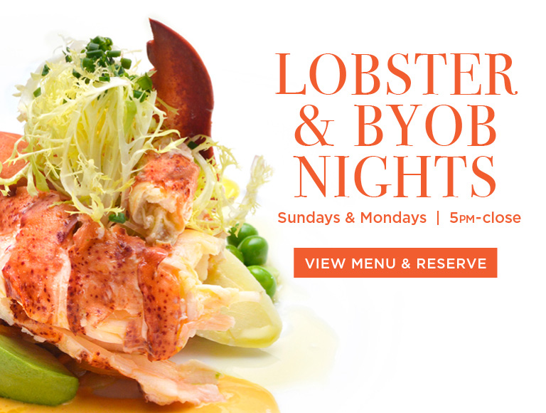 View Menu & Reserve | Lobster & BYOB nights | Sundays and Mondays, 5PM - close | NYC French Restaurants