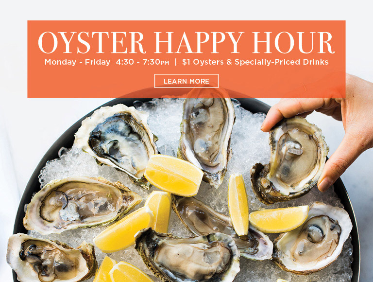 Learn More | Oyster Happy Hour at Brasserie 8 1/2 in NYC | Monday-Friday, 4:30-7:30PM