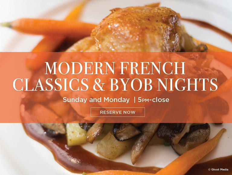 Modern French Classics & BYOB Nights