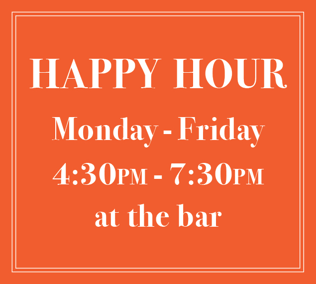 Happy Hour Monday to Friday