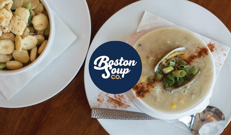 Soup served at Boston Soup Co. at Hub Hall, Boston's new food hall