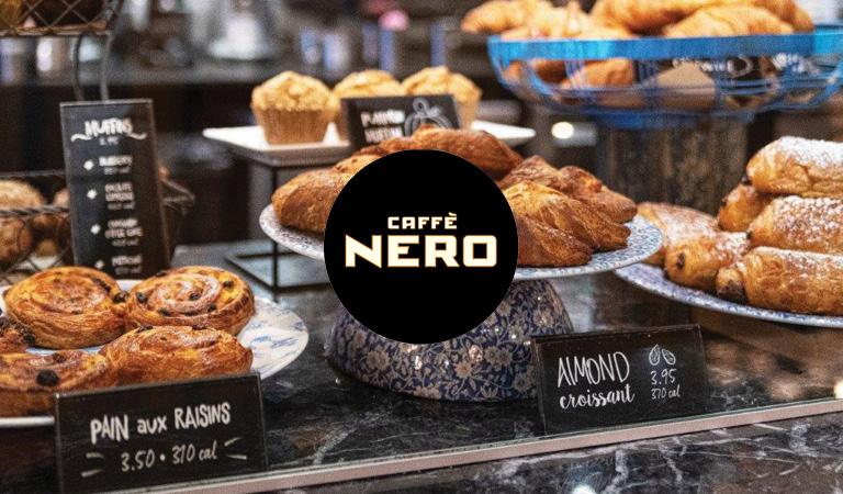 Pastries served at Caffè Nero at Hub Hall in Boston, MA