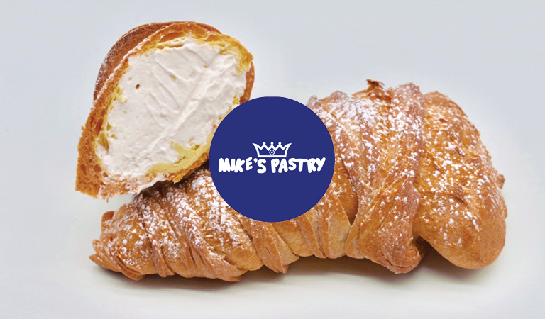 Lobster tail pastry served at Mike's Pastry at Hub Hall, Boston's new food hall