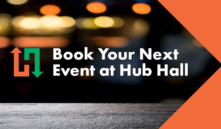 Book your next event at Hub Hall