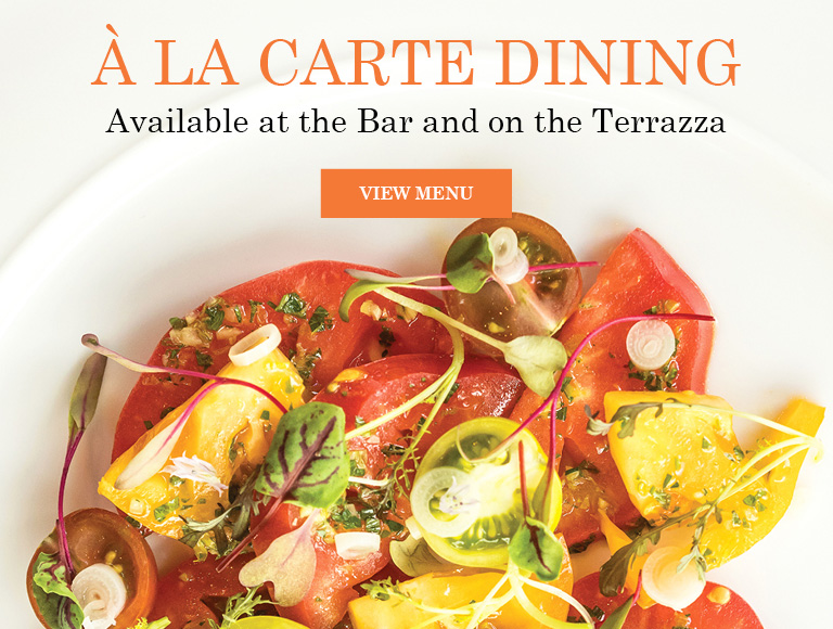 View Menu | À La Carte Dining Available at the Bar and on the Terrazza at Lincoln Ristorante