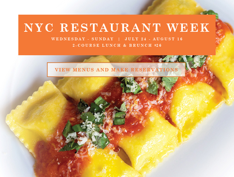 View menus and reserve for NYC Summer Restaurant Week | Wednesday-Sunday, July 24-August 16